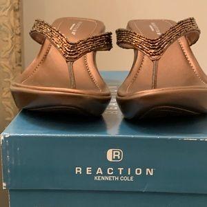 Kenneth Cole Reaction Copper Metallic Bead Sandal